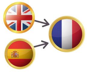 Traducción del inglés y del español al francés