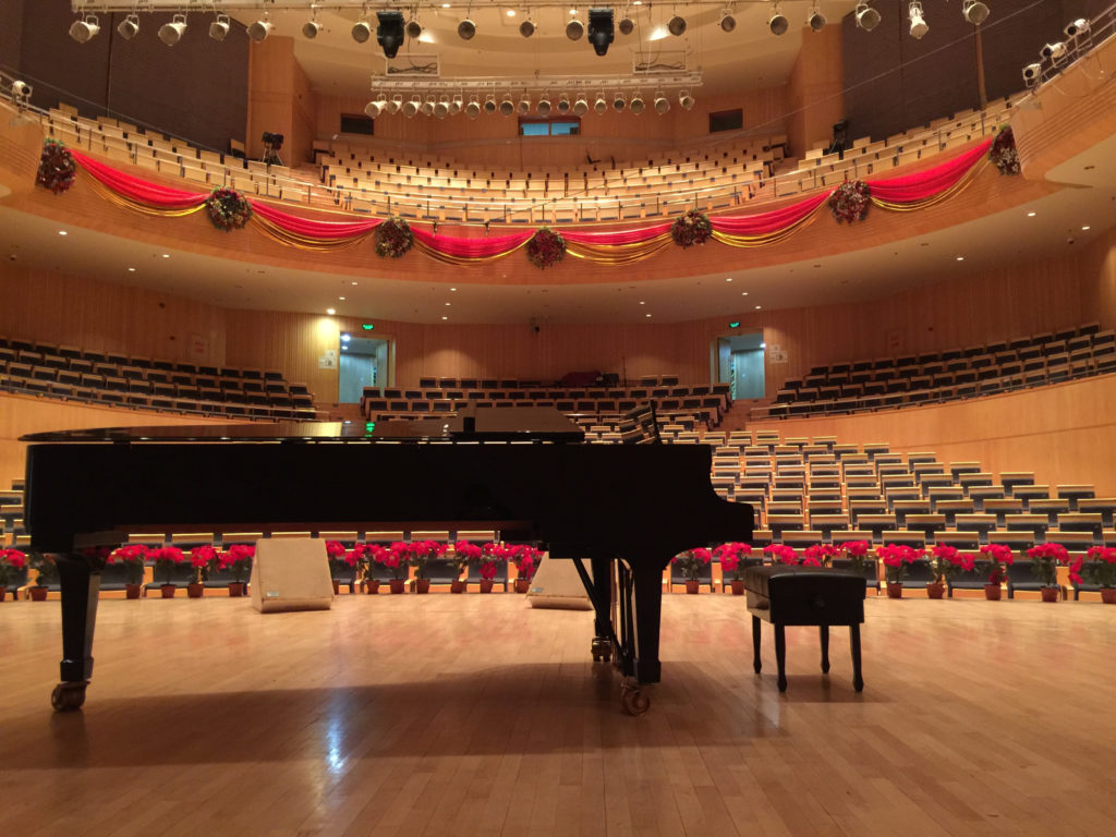 Concert hall with piano